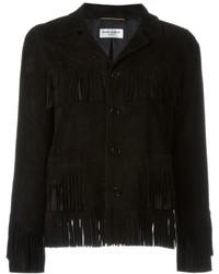 Женская черная куртка от Saint Laurent
