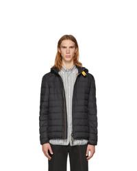 Черная легкая куртка-пуховик