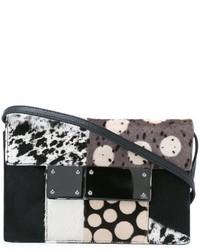 Женская черная меховая сумка через плечо от Jamin Puech