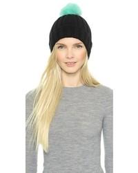 Женская черная меховая шапка