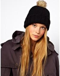 Женская черная меховая шапка от Asos