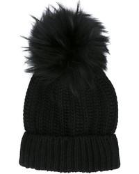 Женская черная меховая шапка от Blugirl