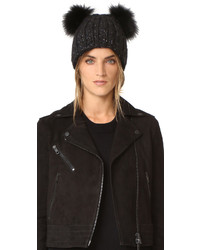 Женская черная меховая шапка от Eugenia Kim