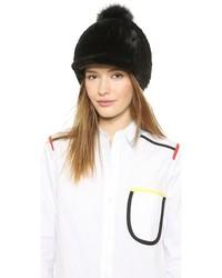 Женская черная меховая шапка от Jocelyn