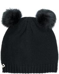 Женская черная меховая шапка от Twin-Set