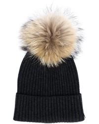 Женская черная меховая шапка от Yves Salomon