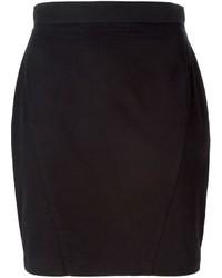 Черная мини-юбка от Thierry Mugler