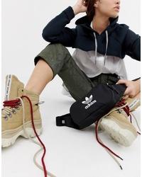 Черная поясная сумка из плотной ткани от adidas Originals