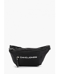 Черная поясная сумка из плотной ткани от David Jones