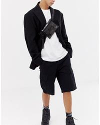 Мужская черная поясная сумка от HXTN