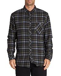 Черная рубашка с длинным рукавом в шотландскую клетку