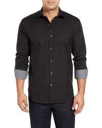 """Черная рубашка с длинным рукавом с """"огурцами"""""""