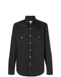 Мужская черная рубашка с длинным рукавом от AMI Alexandre Mattiussi