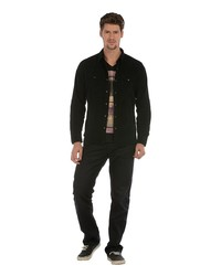 Мужская черная рубашка с длинным рукавом от Colin's