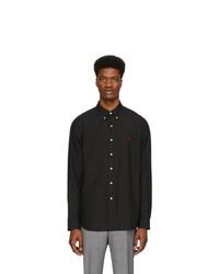 Мужская черная рубашка с длинным рукавом от Polo Ralph Lauren