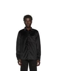 Мужская черная рубашка с длинным рукавом от Saturdays Nyc