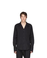 Мужская черная рубашка с длинным рукавом от Sulvam