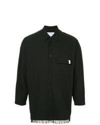 Мужская черная рубашка с длинным рукавом от Yoshiokubo