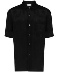 Мужская черная рубашка с коротким рукавом от Alexander McQueen