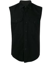 Мужская черная рубашка с коротким рукавом от Ami Paris