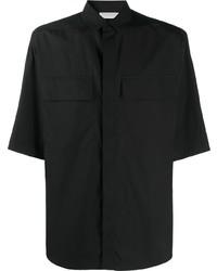 Мужская черная рубашка с коротким рукавом от Ermenegildo Zegna