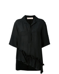Женская черная рубашка с коротким рукавом от Marni