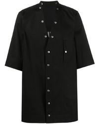 Мужская черная рубашка с коротким рукавом от Rick Owens