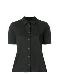 b012e529bff72b5 Купить женскую черную рубашку с коротким рукавом - модные модели ...