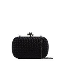 Черная сатиновая сумка через плечо от Bottega Veneta