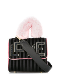Черная сатиновая сумка через плечо от Les Petits Joueurs