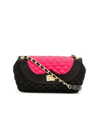 Черная сатиновая сумка через плечо от Moschino Cheap & Chic