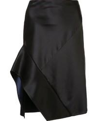 Черная сатиновая юбка от Narciso Rodriguez