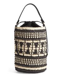 Черная соломенная сумка-мешок