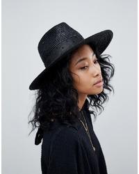 Женская черная соломенная шляпа от Brixton