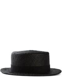 Мужская черная соломенная шляпа от Henrik Vibskov