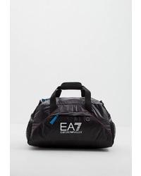 Женская черная спортивная сумка из плотной ткани от EA7