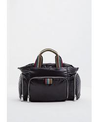Женская черная спортивная сумка из плотной ткани от Sonia Rykiel