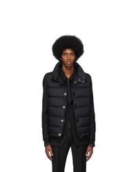 Мужская черная стеганая куртка без рукавов от Burberry