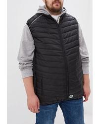 Мужская черная стеганая куртка без рукавов от D555