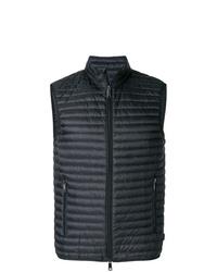 Мужская черная стеганая куртка без рукавов от Emporio Armani