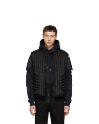 Мужская черная стеганая куртка без рукавов от Moncler Genius