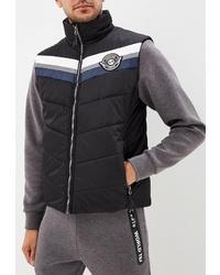 Мужская черная стеганая куртка без рукавов от Stayer