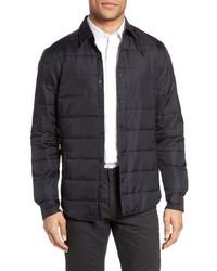 Черная стеганая куртка-рубашка