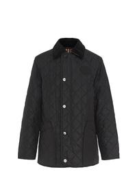 Черная стеганая куртка с воротником и на пуговицах от Burberry
