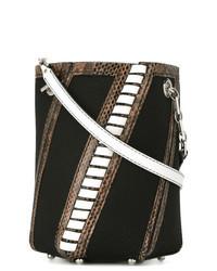 Черная сумка-мешок из плотной ткани