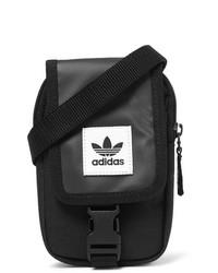 Черная сумка на шею из плотной ткани