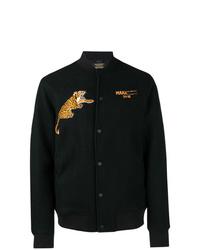 Мужская черная университетская куртка с принтом от Maharishi