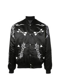 Мужская черная университетская куртка с принтом от Rhude