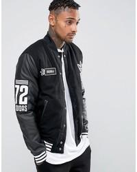 Мужская черная университетская куртка от adidas