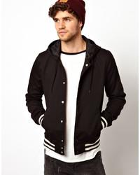 Мужская черная университетская куртка от Asos